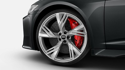 RS ceramic brake system with red brake callipers