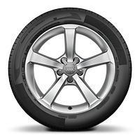 "17"" '5-spoke star' design alloy wheels with 7.5J 225/45 R17 tyres"