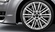 Audi Sport cast aluminium alloy wheels, 10-V-spoke design, size 9J x 21 with 275/35 R21 tyres