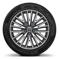 Cast alloy wheels, 20-spoke V-style, Contrast Gray , partly polished, 7J x 19 with 235/50 R19 tires