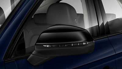 Exterior mirrors, electrically adjustable, heated and folding, automatically dimming on both sides, with memory function, incl. automatic kerb-side function for the exterior mirror on the passenger side
