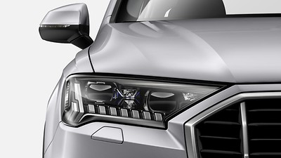 Audi HD Matrix LED headlights with Audi laser light, and dynamic front and rear indicatiors