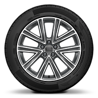 "17"" alloy wheels in 5-V-spoke design, contrasting grey, partly polished"