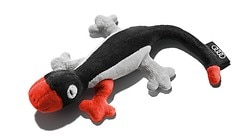 Animal en peluche, Rob le gecko, gris/rouge/noir