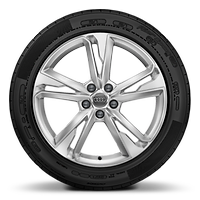 Cast alloy wheels, 5-double-spoke dynamic style, (S style), 7J x 19 with 235/50 R19 tires