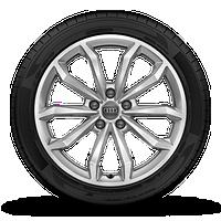 10輻V型18英寸鋁合金輪輞, 尺寸為8J x 18