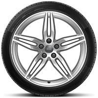 Cast alloy wheels, 5-parallel spoke style, 8.5J x 19