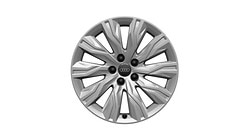 Cast aluminium winter wheel in 10-arm gravis design, brilliant silver, 7.5 J x 18