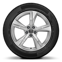 "17"" alloy wheels in 5-arm star design"