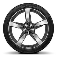 19x9J 5-arm polygon style,matt titanium alloy
