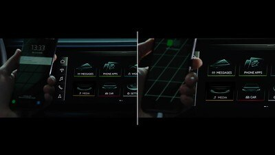 Audi smartphone interface