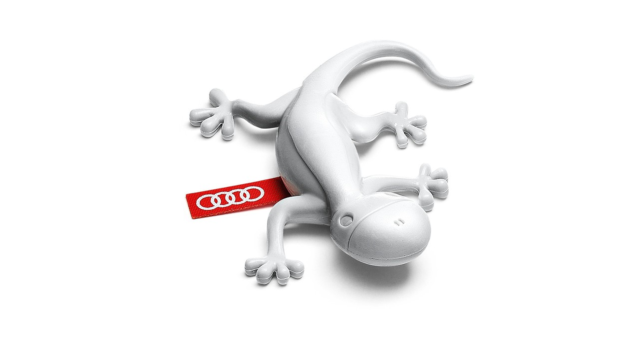 Air freshener gecko, light grey, fresh