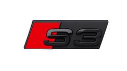 """Modellbezeichnung Front schwarz, """"S3"""""""