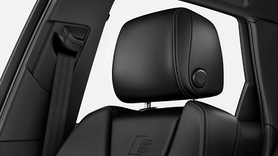 Variable head restraints for front seats