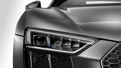 LED headlights with Audi Laser Light and High-beam assist (Optional)