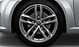 Audi Sport cast aluminium alloy wheels, 5 twin-spoke design, size 9 J x 19, 245/35 R 19 tyres