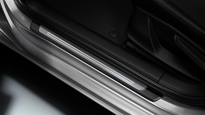 Door sill trims, front, with aluminium inlays, illuminated