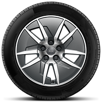 Cast alloy wheels, 5-arm Aero style, Contrast Gray, partly polished, 7.5J x 17 with 225/50 R17 tires