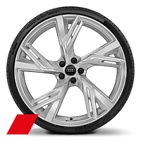 Cast alloy wheels, 5-V-spoke trapezoidal style, 10.5J x 22, 285/30 R22 tires