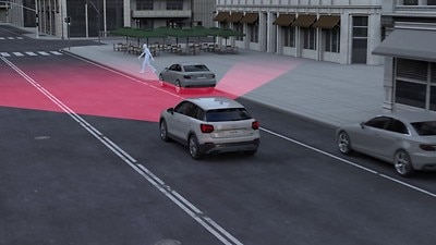Audi pre sense city with Autonomous Emergency Braking (AEB) and pedestrian detection