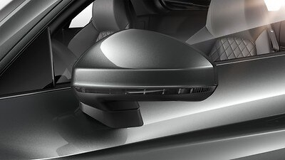 Door mirrors - with auto dimming function, electrically folding, adjustable and heated (Optional)