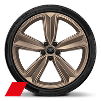 Alloy wheels, 5-arm peak style, Matte Bronze, 9J x 20, 275/30 R20 tires