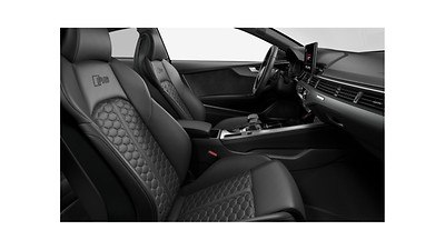 RS sport front seats with integrated front head restraints and manual extendable thigh support