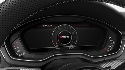 Audi Virtual Cockpit with RS-specific display