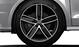 Audi Sport cast alum. alloy wheels, 5-arm wing design in matt black, mach.-pol., 7.5J x 18, 225/35 R18 tyres