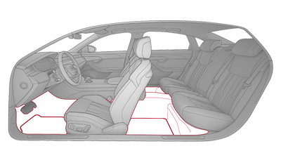 Teppichboden und Fußmatten Audi exclusive