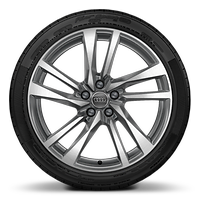 "19"" x 8.5J '5-twin spoke' design alloy wheels, contrasting grey, partly polished with 255/35 tyres"