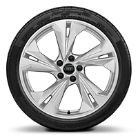 Alloy wheels, 5-double-spoke style (S style), 8.0J x 19, 235/35 R19 tires
