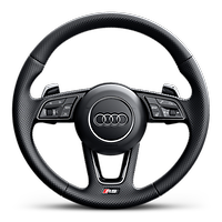 Heated 3-spoke perforated leather high multi-function steering wheel with contrast stitching and RS badging
