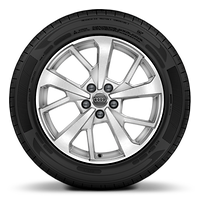 Alloy wheels, 5-spoke Y-style, diamond-turned, 7.0J x 18, 235/55 R18 tires