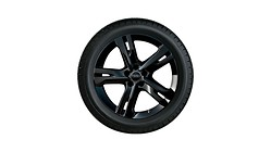 Complete winter wheel in 5-arm ramus design, black-gloss finish, 8 J x 19, 245/45 R19 102V XL, right