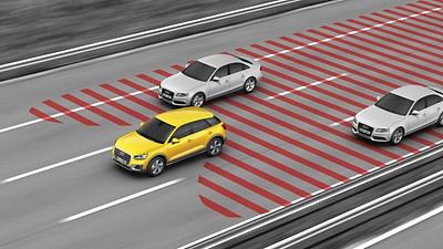 Audi active lane assist und Audi side assist