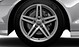 Cast aluminium alloy wheels, 5-twin-spoke star design, size 8 J x with 245/45 R 18 tyres