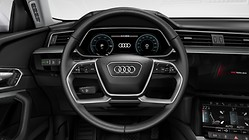 Leather-wrapped multi-function steering\wheel, double-spoke, with shift paddles