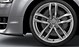 Audi Sport cast aluminium alloy wheels, 5 twin-spoke design, size 9 J x 20, 265/40 R 20 tyres