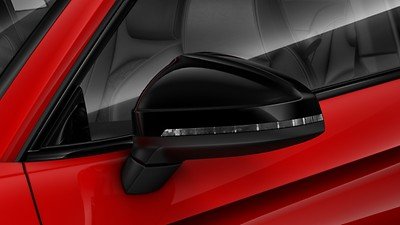Exterior mirror housings in Glossy Black, Audi exclusive
