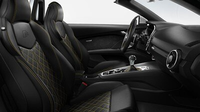 Audi exclusive design package black/calendula yellow