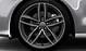 Легкосплавные диски Audi Sport, дизайн «5 двойных спиц», titan matt, с полированной обводкой, размер 9J x 20