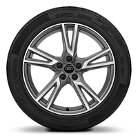 "19"" alloy wheels in 5-V-spoke design, contrasting grey with 235/55 tyres"