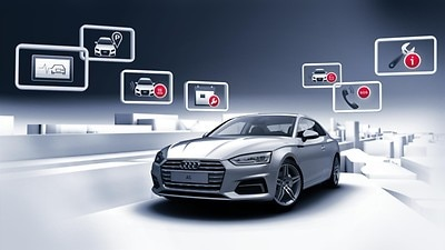 Audi connect: emergency call (e call) & service call