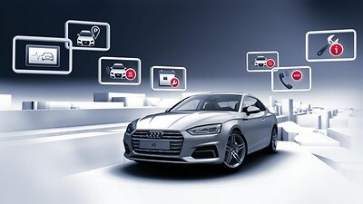 Audi connect: appel d'urgence (e-call) et appel d'assistance