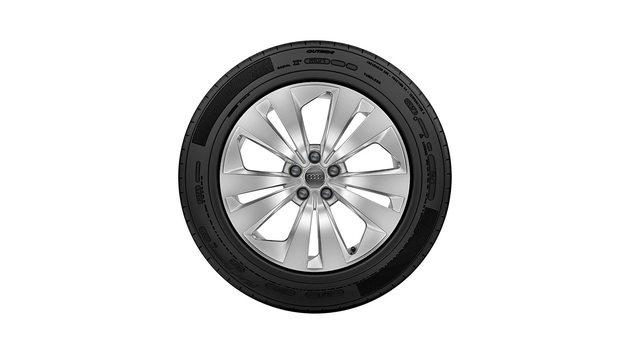 Complete winter wheel in 5-arm aero design, brilliant silver, 8.5 J x 19, 265/55 R19 113H XL