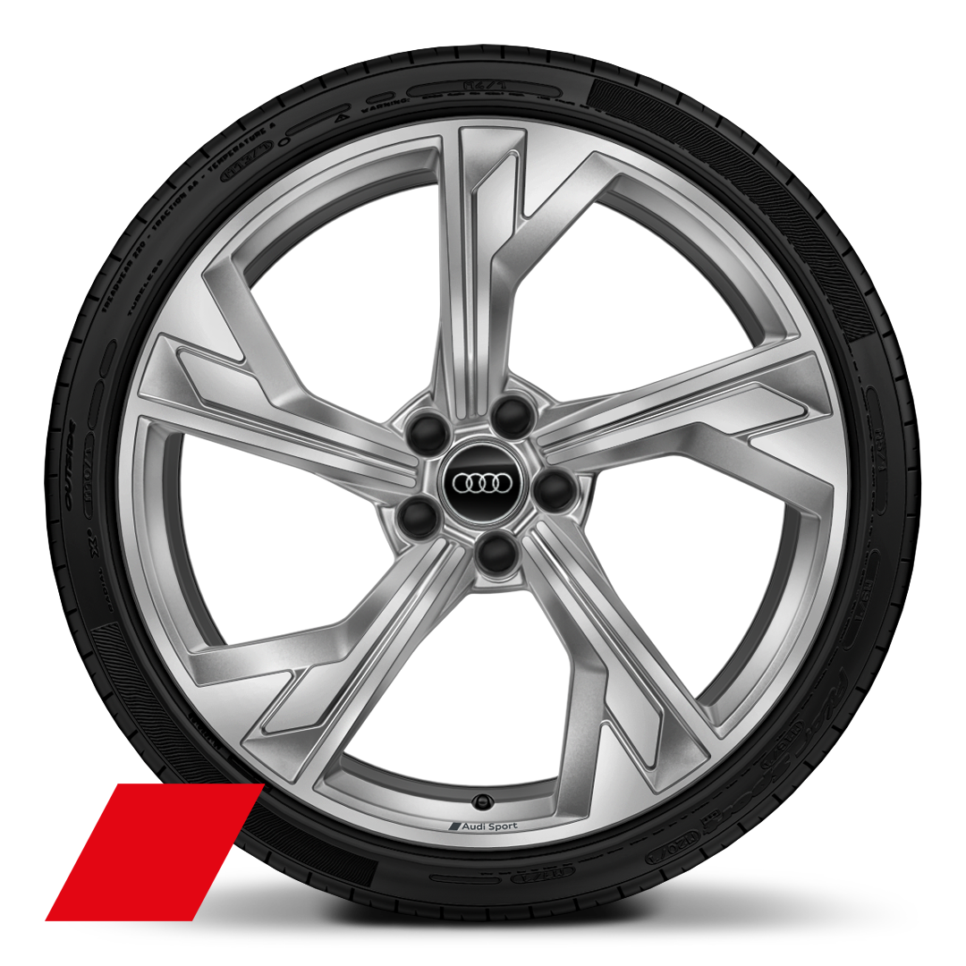 "20"" x 9.0J '5-arm flag' design Audi Sport alloy wheels with 275/30 R20 tyres"