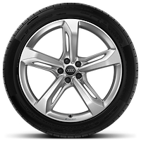 Audi Sport cast alloy wheels, 5-spoke blade style, 9.5J x 21 with 285/40 R21 tires