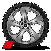 """22"""" Audi Sport® 5-arm-edge design, matte platinum finish wheels"""
