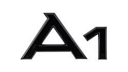 """Modellbezeichnung Heck schwarz, """"A1"""""""